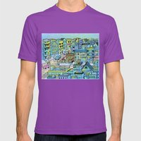 TinaTown Mens Fitted Tee Ultraviolet SMALL