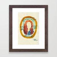 Feel Something Framed Art Print