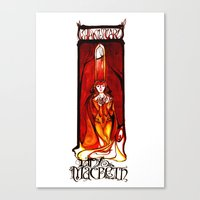 Lady Macbeth Illustration Canvas Print