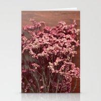 Vintage Purple Flowers Stationery Cards