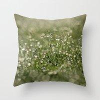 Grass Bokeh Throw Pillow
