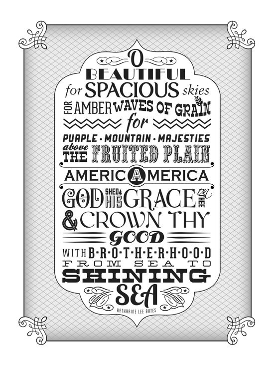 America the Beautiful poster Art Print