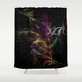 Shower Curtain - fantastic fireworks - donphil
