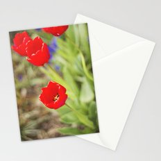 Bursts of Red Stationery Cards