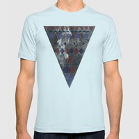 Forest Path Mens Fitted Tee Light Blue SMALL