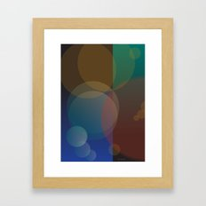 Interaction of Bubbles - Abstract Poster Design Framed Art Print