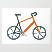 Orange Bike Art Print