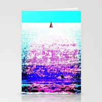 Sailboat and Swimmer (2d) Stationery Cards
