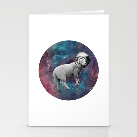 The Space Sheep 2.0 Stationery Card