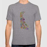 Typographic Delaware - M… Mens Fitted Tee Athletic Grey SMALL