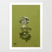 contraction Art Print