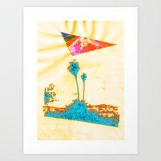 Summer in LA - Collaboration 1 Art Print