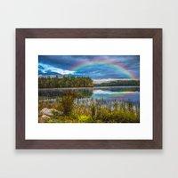 Rainbow Over The Marsh Framed Art Print