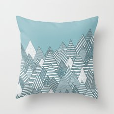 Winterly Forest Throw Pillow