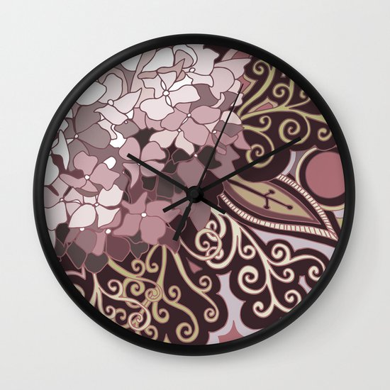 Hortensia autumn Wall Clock