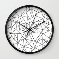 Abstract Outline Black O… Wall Clock