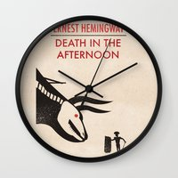 Death In The Afternoon Wall Clock