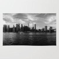 New York Skyline - Black… Rug