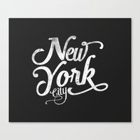 New York City vintage typography Canvas Print