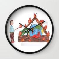 Mundinho - Burn Wall Clock