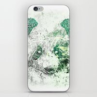Green Panda Bear iPhone & iPod Skin
