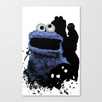 Monster Madness: Cookie … Canvas Print