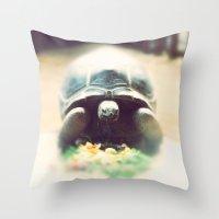 Acinixys Planicauda  Throw Pillow