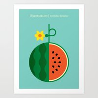 Fruit: Watermelon Art Print