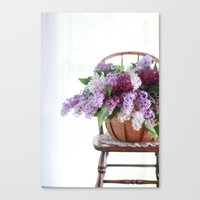 Bouquet of Beautiful - Lilacs  Canvas Print