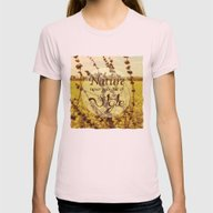 Mustard Plant Womens Fitted Tee Light Pink SMALL