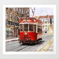Old tramways IV Art Print