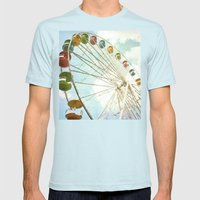 Sky Is The Limit Mens Fitted Tee Light Blue SMALL