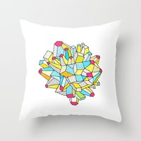Gem and Mineral Dream Throw Pillow