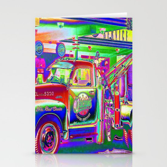 Hit by a Truck Stationery Card