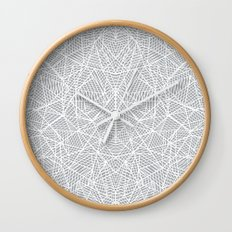 Abstract Lace on Grey Wall Clock