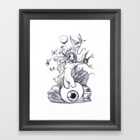 Girl Unconscious Framed Art Print