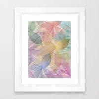 Colored Leaf Pattern Framed Art Print