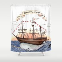 Float My Boat Shower Curtain