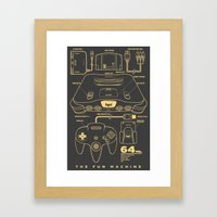 N64 Framed Art Print