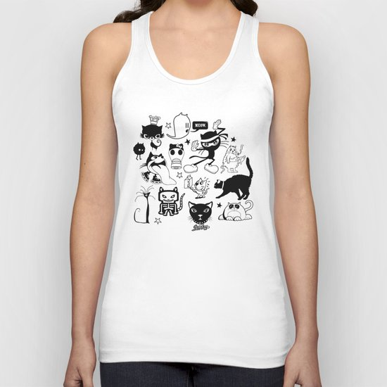 Cat Menagerie Unisex Tank Top