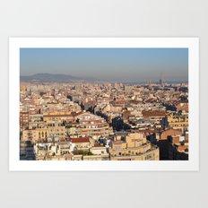 A View of Barcelona Art Print