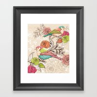 Country Garden Framed Art Print
