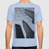 NY clouds Mens Fitted Tee Athletic Blue SMALL