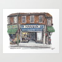 Hassan, Burnt Oak Art Print