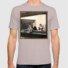 mad men characters are Hopper's Nighthawks Mens Fitted Tee Cinder SMALL