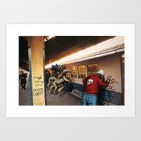 monster and rat metro Art Print