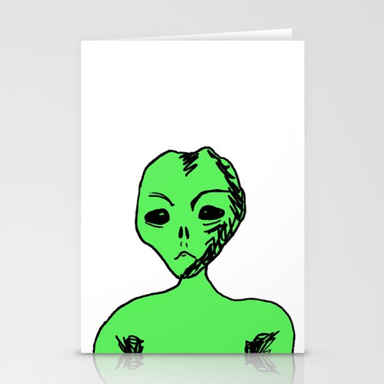 Alien Stationery Card