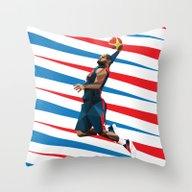 LeBron James Throw Pillow