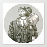 In which a dapper fish is encircled Canvas Print