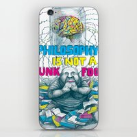 Philosophy is not a junk food iPhone & iPod Skin